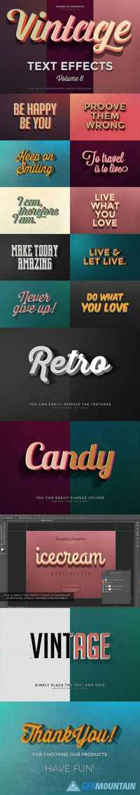 Vintage Text Effects Vol.6 483093
