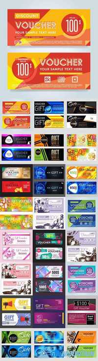 Voucher and gift cards luxury vouchers