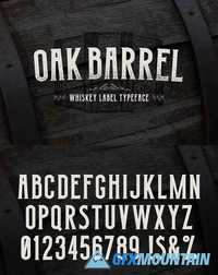 Oak Barrel - Whiskey Label Font 1862607