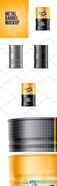 Metal Oil Barrel Mockup 2048409