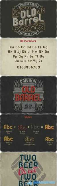 Old Barrel typeface 1894062
