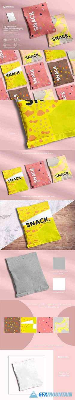 Snack Pouch Packaging Mockup 4130509