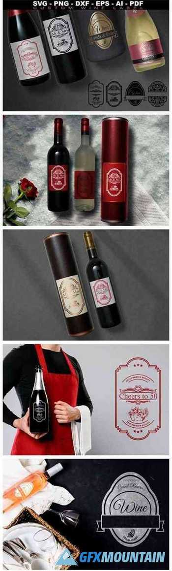 Wine Labels Collection SVG Custom Label