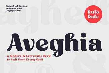 Aveghia Display Serif Font