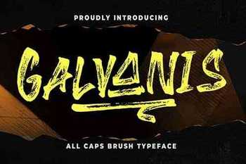 Galvanis All Caps Brush Typeface