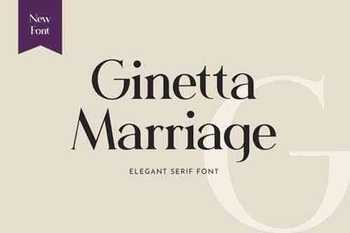 Ginetta Marriage Serif Font