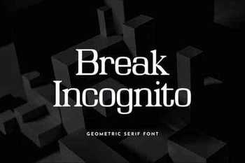 Break Incognito Serif Font