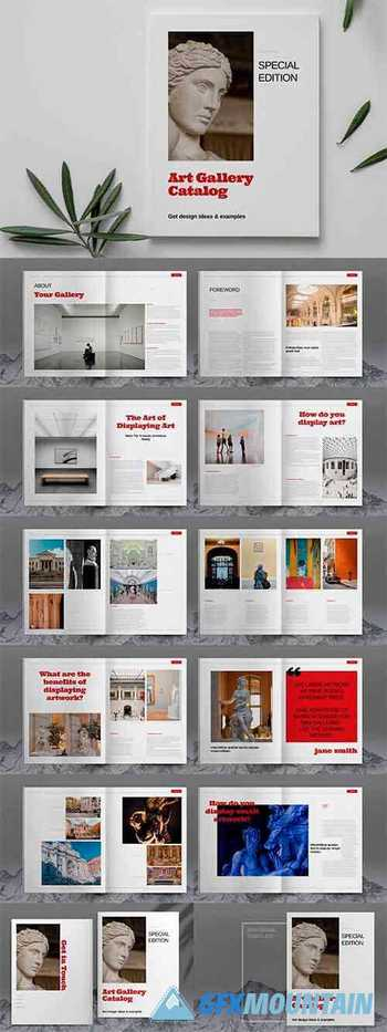 Art Gallery Catalog Layout Template 6083777