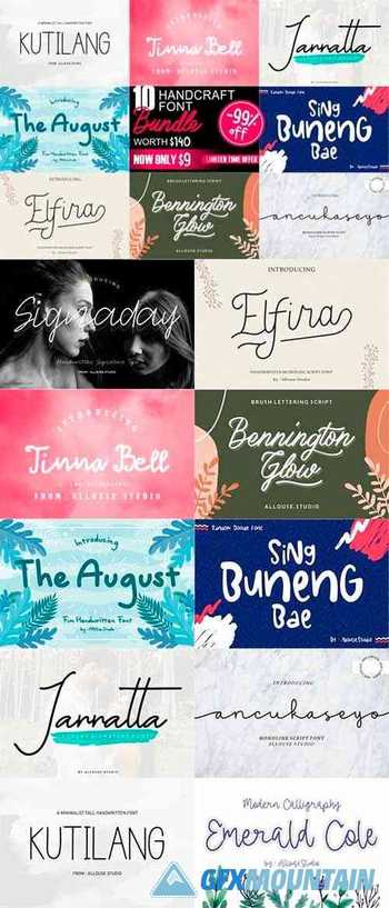 Handcraft Fonts Bundle 29621772