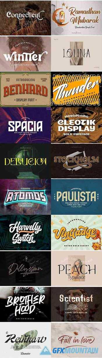 20 Super Creative Fresh Fonts in 1 Pack