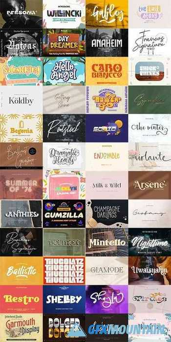 48 Awesome Fonts Bundle 5