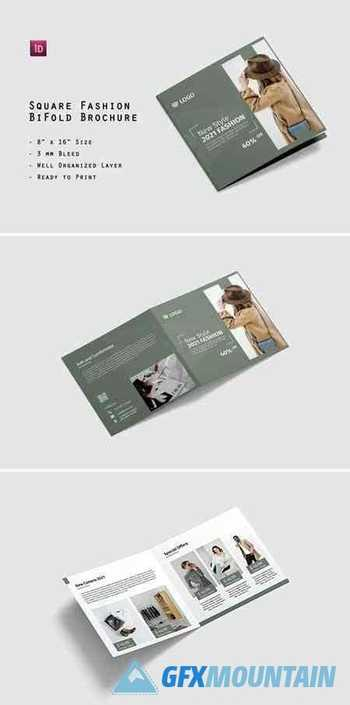 Square Fashion BiFold Brochure