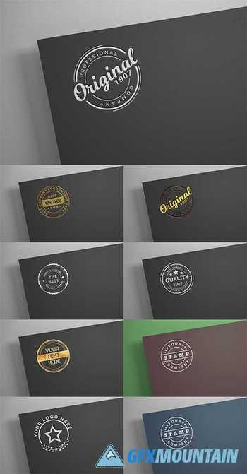 White logo on black paper - mockup - 6140325