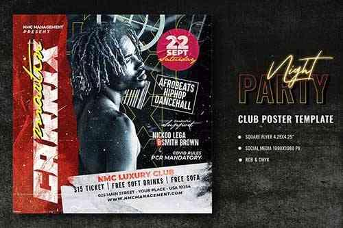 Club Party Poster Template