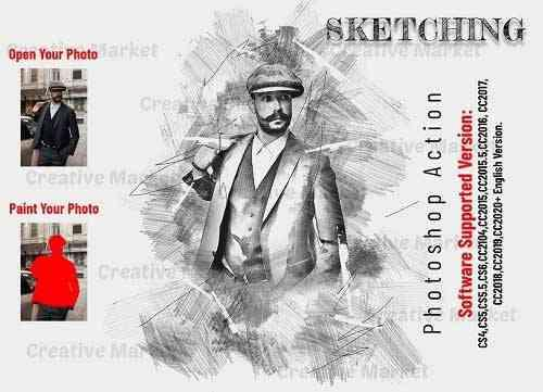 Sketching Photoshop Action - 6533290