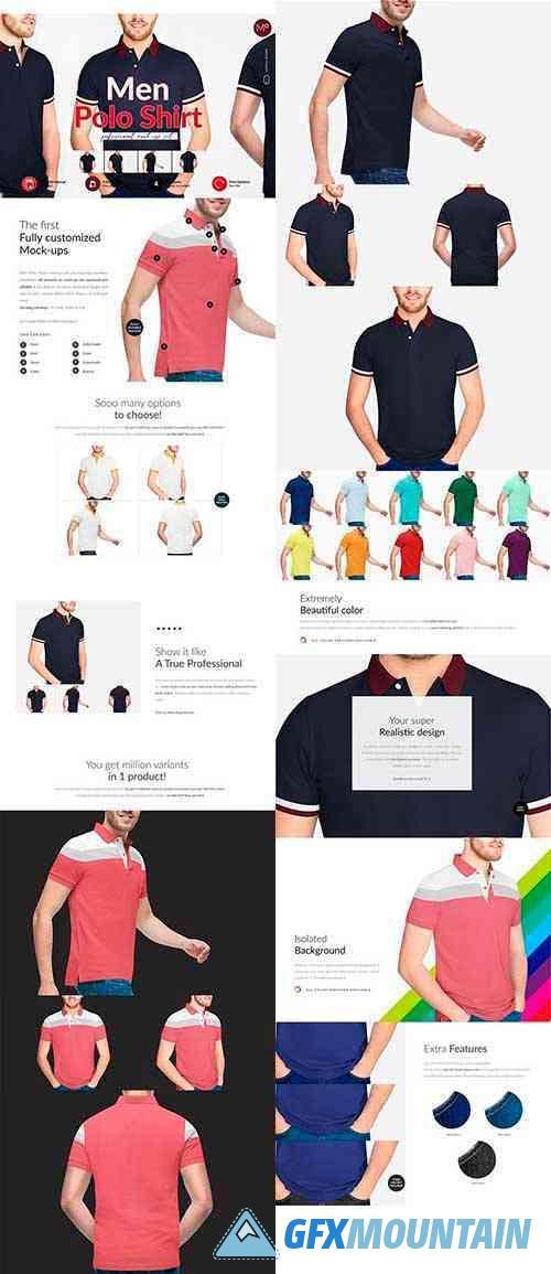 Men Polo Shirt 4x Mock-ups 5949461