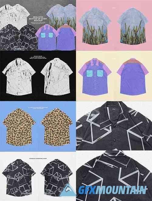 Realistic Button-Up Shirt Mockup 5931439