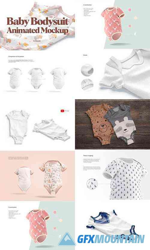 Baby Bodysuit Animated Mockup 6491561