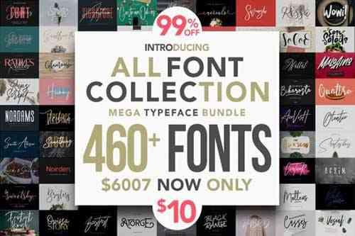 All Fonts Collection - Mega Typeface Bundle