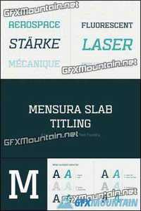 Mensura Slab Titling Font Family - 12 Fonts for $100!