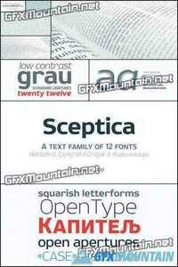 Sceptica Font Family - 12 Fonts for $300