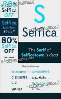 Selfica Font Family - 14 Fonts for $150