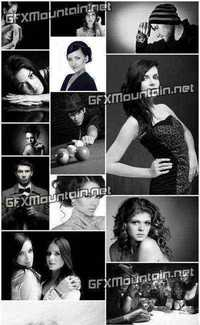 Stock Photos - Black-and-White Photos Of People