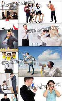 Stock Photos - Business Team With Megaphone 2