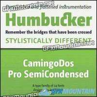 CamingoDos Pro SemiCondensed Font Family - 14 Fonts for $637