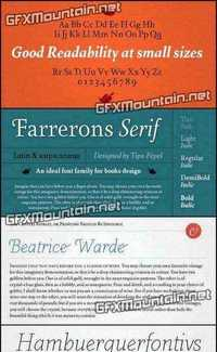 Farrerons Serif Font Family - 10 Fonts for $176