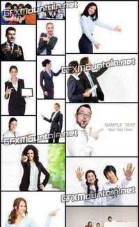 Stock Photos - Business Pointing at Something