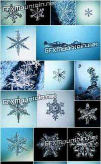 Stock Photos - Snowflakes and Ice Crystals