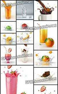 Stock Photos - Splashing Vegetables