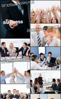 Stock Photos - Happy Business Team Giving