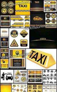 Stock Vector - Taxi Services