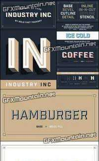 Industry Inc Font Family - 14 Fonts for $69 » Free Download