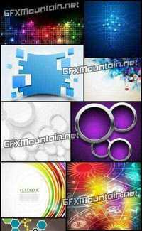 Stock Vector - Collection of Vector Abstract Backgrounds 46