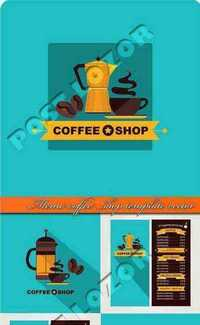 Menu coffee shop template vector