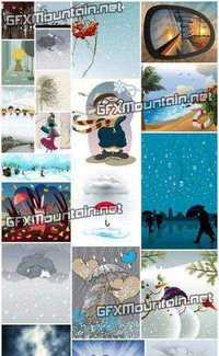 Stock Vector - Winter Weather Collection
