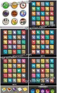 Stock Vector - Color Icons Collectoin
