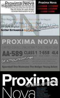 Proxima Nova Font Family - 126 Fonts for $644