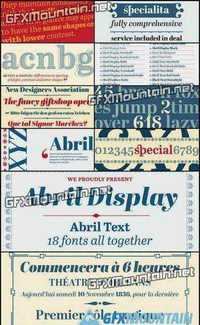 Abril Font Family - 12 Fonts (Incomplete Family!) for $745