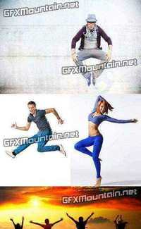 Stock Photos - Jumping People