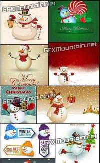 Stock Vector - Snowmen Collection