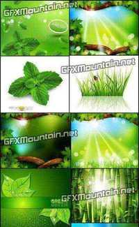 Stock Vector - Eco Green Background