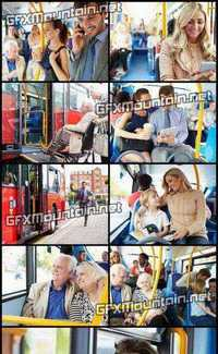 Stock Photos - People in the Sity Bus