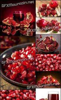 Stock Photos - Pomegranate with Leafs