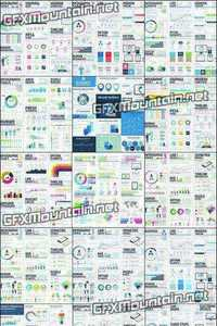 Large Infographic Vector Elements Template