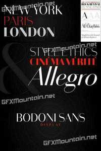 Bodoni Sans Display Font Family - 8 Fonts for $195 » Free