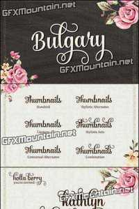 Bulgary Font Family - 2 Fonts for $15
